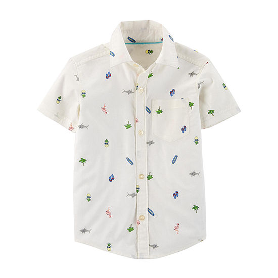 Carter's Boys Short Sleeve Button-Front Shirt Toddler