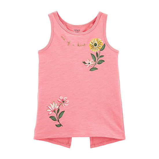 Carter's Girls Crew Neck Tank Top Preschool / Big Kid