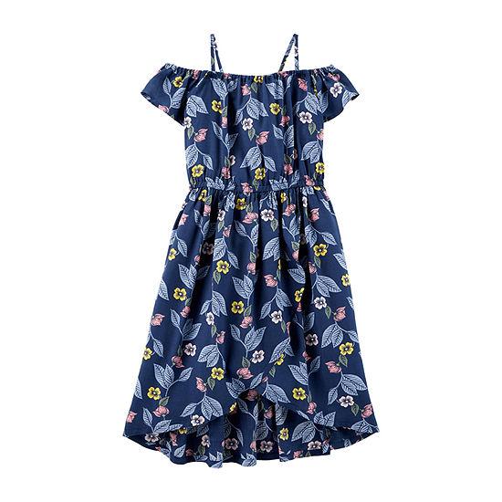 Carter's Girls Sleeveless Flutter Sleeve Sundress - Preschool / Big Kid