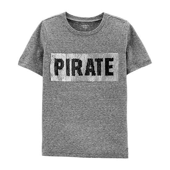 Carter's Boys Crew Neck Short Sleeve Graphic T-Shirt - Preschool / Big Kid