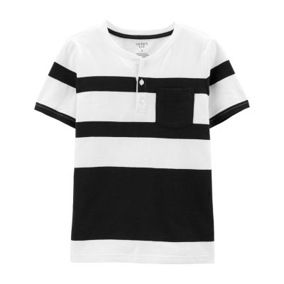 Carter's Boys Short Sleeve Henley Shirt Preschool / Big Kid