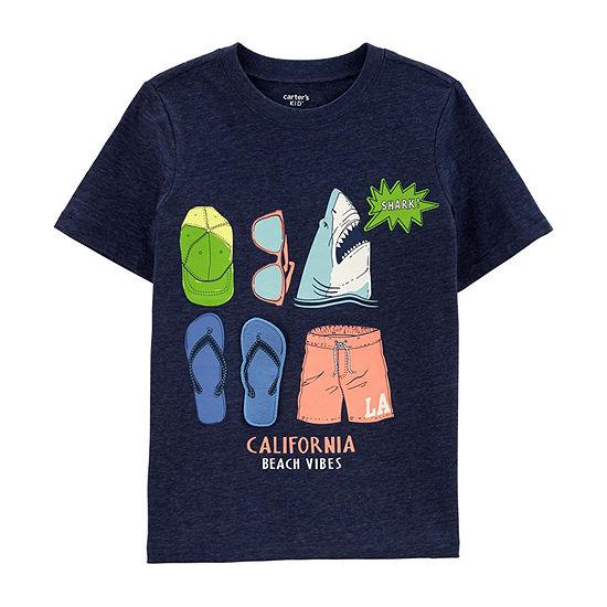 Carters Boys Crew Neck Short Sleeve Graphic T Shirt Preschool Big Kid