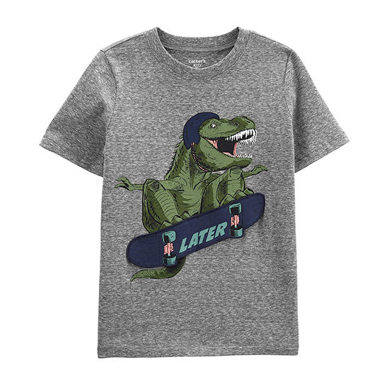 Carter's Boys Crew Neck Short Sleeve Graphic T-Shirt Preschool / Big Kid