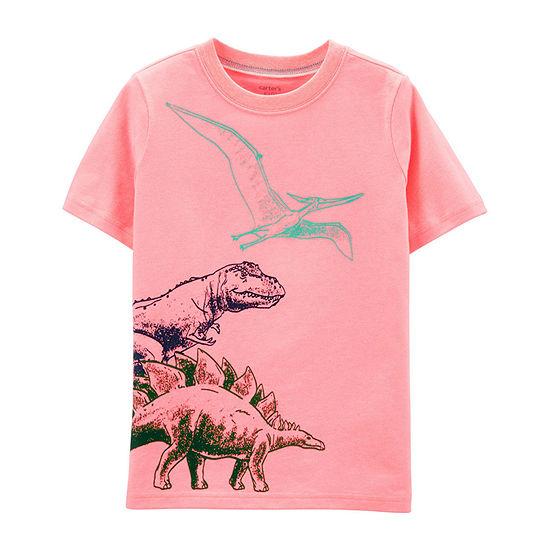 879f0f42 Carter's Boys Crew Neck Short Sleeve Graphic T-Shirt Preschool / Big ...
