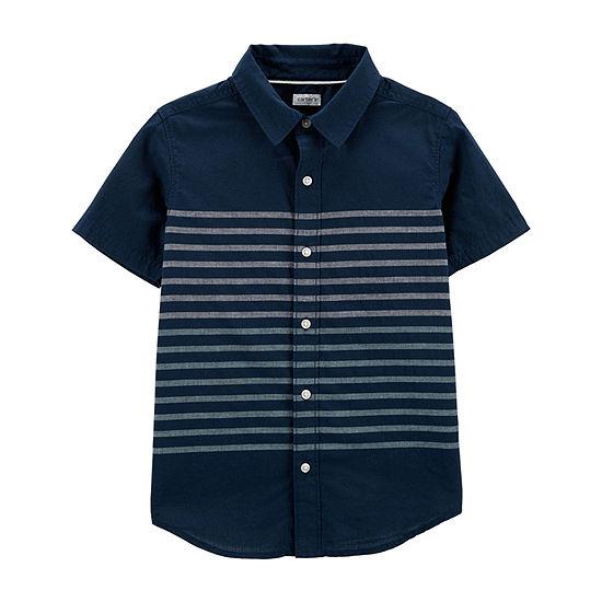 3d8a3e2d Carter's Boys Short Sleeve Button-Front Shirt Preschool / Big Kid - JCPenney