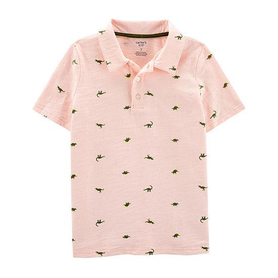 Carters Boys Spread Collar Short Sleeve Polo Shirt Preschool Big Kid