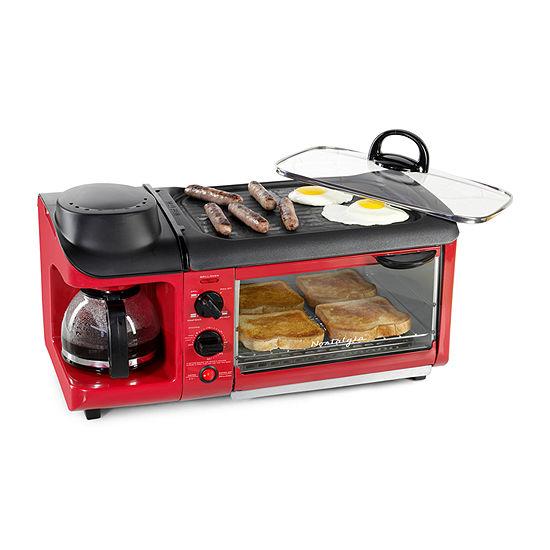Nostalgia BSET300RETRORED Retro 3-in-1 Breakfast Station