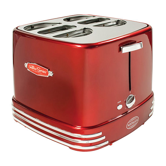 Nostalgia RHDT800RETRORED Pop-Up Hot Dog Toaster