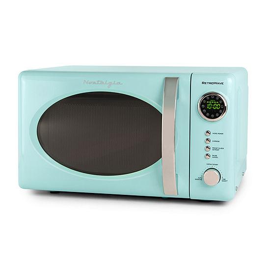 Nostalgia RMO7AQ Retro 0.7 Cubic Foot 700-Watt Countertop Microwave Oven - Aqua