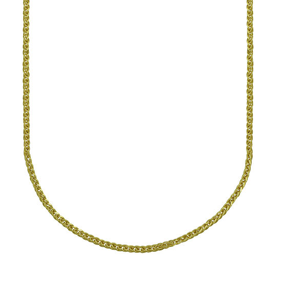 14K Gold 20 Inch Hollow Wheat Chain Necklace