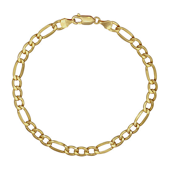 10K Gold 9 Inch Hollow Figaro Chain Necklace