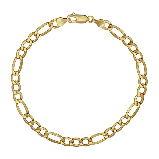 10K Gold 9 Inch Semisolid Figaro Chain Necklace