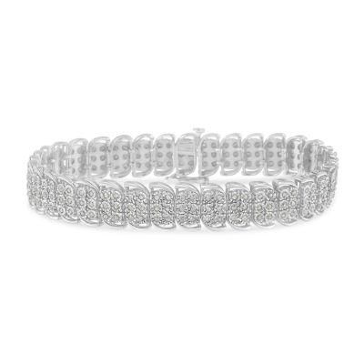 2 CT. T.W. Genuine White Diamond 7.25 Inch Tennis Bracelet
