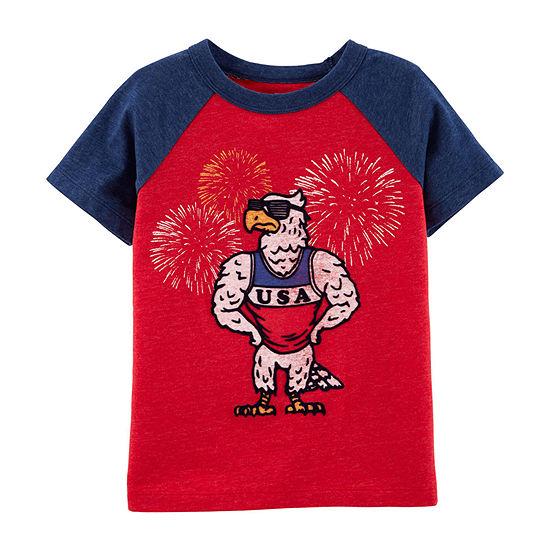 Oshkosh Boys Round Neck Short Sleeve T-Shirt-Toddler