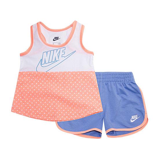Nike 2-pc. Short Set Baby Girls