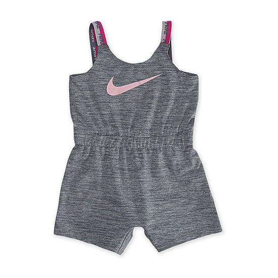 Nike Girls Sleeveless Romper - Baby