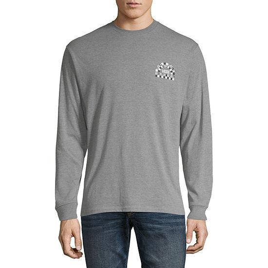 Vans Mens Crew Neck Long Sleeve Logo Graphic T-Shirt
