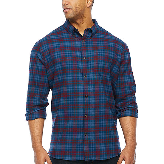 The Foundry Big & Tall Supply Co. Big and Tall Mens Long Sleeve Flannel Shirt