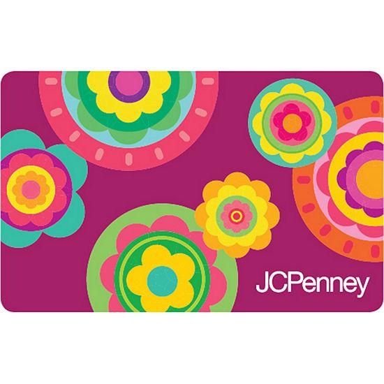 Purple Flowers Gift Card