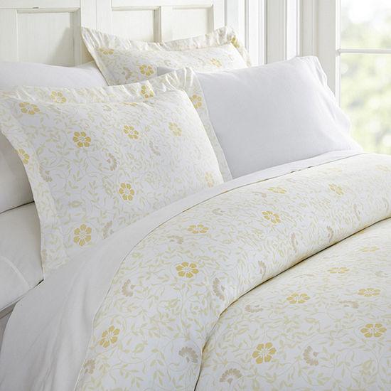 Casual Comfort Premium Ultra Soft Spring Vines Print Duvet Cover Set