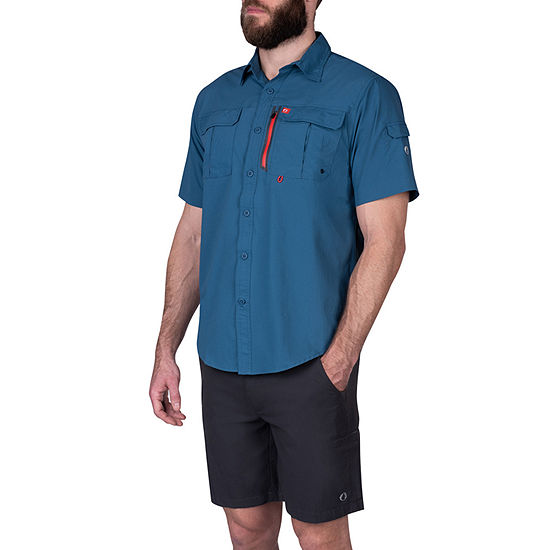American Outdoorsman Big and Tall Mens Short Sleeve Cooling Moisture Wicking Button-Down Shirt