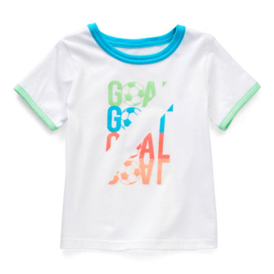 Okie Dokie Toddler Boys Active Crew Neck Short Sleeve Graphic T-Shirt