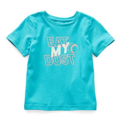 Okie Dokie Toddler Boys Active Crew Neck Short Sleeve Graphic T-Shirt