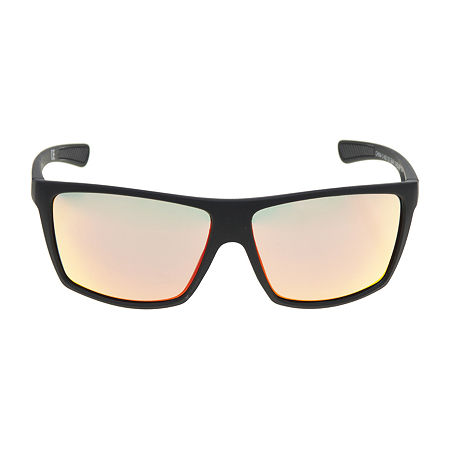 Arizona Mens Full Frame Rectangular Sunglasses, One Size , Black