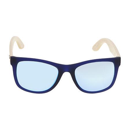 Arizona Mens Full Frame Rectangular Sunglasses, One Size , Blue