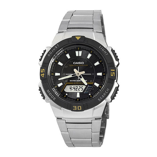 Casio Mens Silver Tone Stainless Steel Strap Watch-Aq-S800wd-1ev