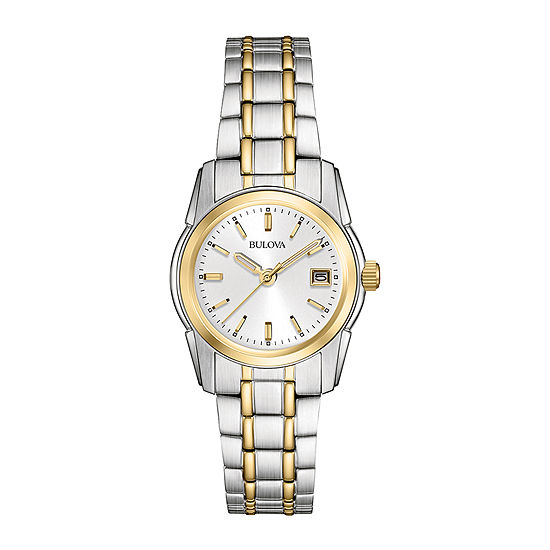 Bulova Classic Womens Two Tone Stainless Steel Bracelet Watch-98m105