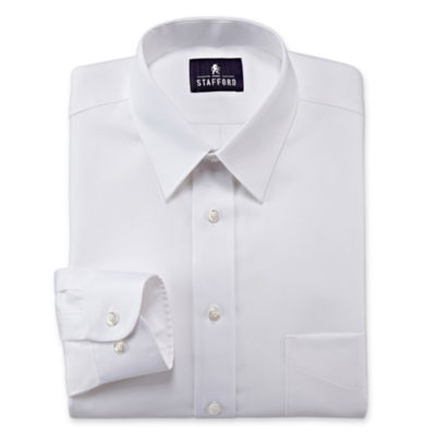 Stafford® Travel Performance Pinpoint Oxford Shirt–Big & Tall
