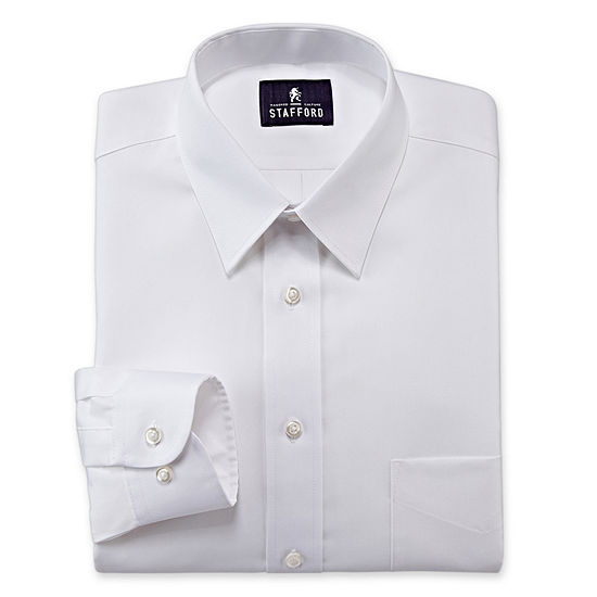 Stafford Mens Wrinkle Free Pinpoint Oxford Big and Tall Dress Shirt
