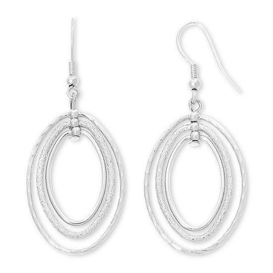 Liz Claiborne® Silver-Tone, Orbital Drop Earrings
