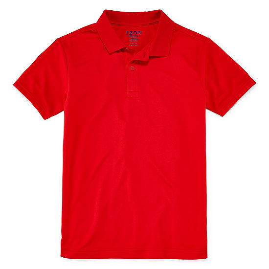 Izod Boys Spread Collar Short Sleeve Performance Polo Shirt Preschool