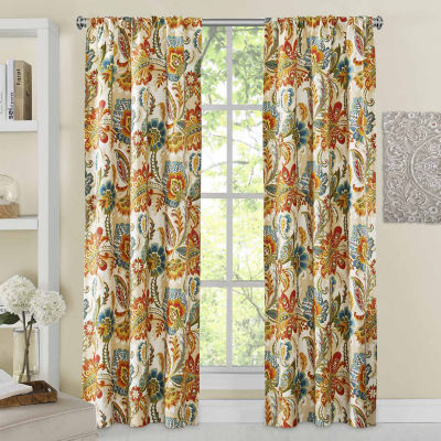 Richloom Ayer 2-Pack Rod-Pocket Curtain Panels