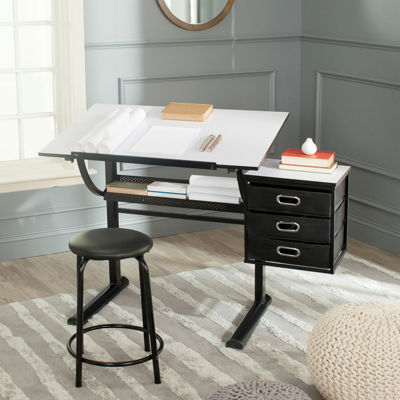 Percival Writing Desk and Barstool