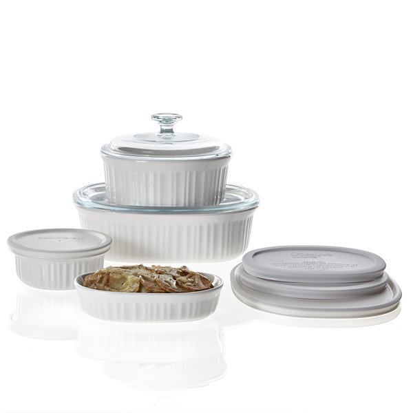 CorningWare® French White 10-pc. Casserole \u0026 Bakeware Set  sc 1 st  JCPenney : corelle french white dinnerware - pezcame.com