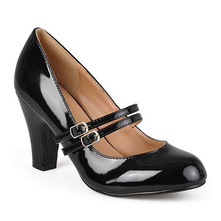 1960s Style Clothing & 60s Fashion Journee Collection Womens Wendy Pumps 8 Medium Black $47.99 AT vintagedancer.com