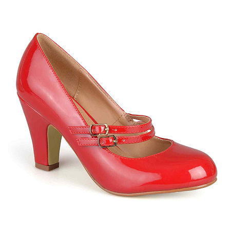 1960s Style Clothing & 60s Fashion Journee Collection Womens Wendy Pumps 7 Medium Red $55.99 AT vintagedancer.com