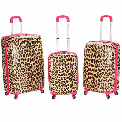 Rockland Leopards 3-pc. Hardside Luggage Set