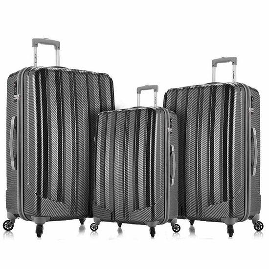 Rockland Metallic 3-pc. Hardside Luggage Set