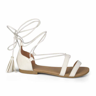 Journee Collection Amee Womens Flat Sandals