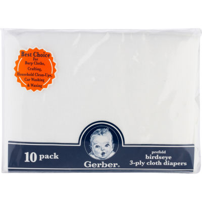 Gerber® 10 Pack Prefold Birdseye 3-Ply Cloth Diapers