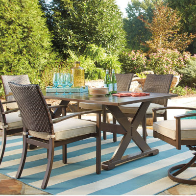 Elegant Outdoor By Ashley® Aruba Dining Table