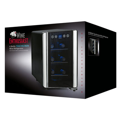 Wine Enthusiast® 6-Bottle Silent Touchscreen Wine Refrigerator