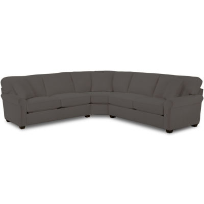 Fabric Possibilities Roll Arm 3-Pc Loveseat Sectional