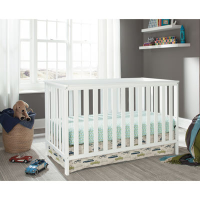 Storkcraft Roseland 3-in-1 Convertible Crib- White
