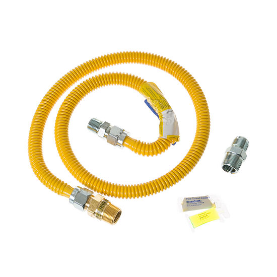 GE® 4 ft. Gas Range Connector Kit with Auto Shut Off