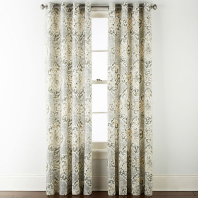 JCPenney Home Verona Tamsin Grommet-Top Curtain Panel